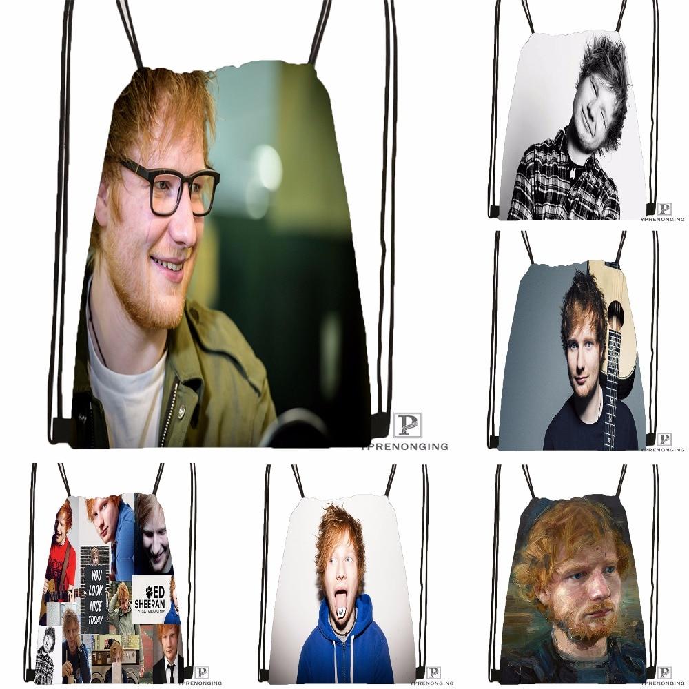 Custom Ed Sheeran Drawstring Backpack Bag for Man Woman Cute Daypack Kids Satchel Black Back 31x40cm