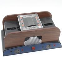 Advanced Poker Robot 1 2 Decks Shuffling Playing Cards Wooden Shuffler Poker Card Shuffler Automatic Machine