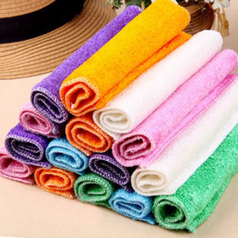 5 шт., кухонные антижировые тряпки, эффективная Ткань для очистки бамбукового волокна, многофункциональные инструменты для мытья дома