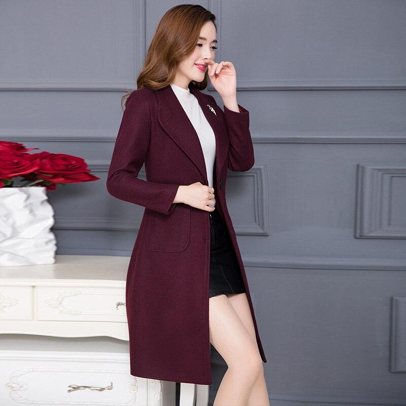 Nouvelle offre spéciale femme laine manteau haute qualité hiver veste femmes Slim laine Long cachemire manteaux Cardigan vestes mélange NZ019