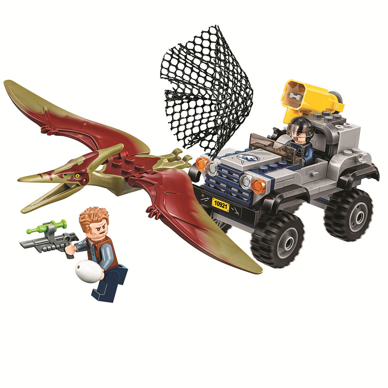 2018 New Jurassic World 2 Pteranodon Chase Building Block Bricks Toys Compatible Legoings Jurassic Park Dinosaur 75926 compatible with legoings jurassic world 2 dinosaur park velociraptor blue helicopter pursuit building blocks bricks toys
