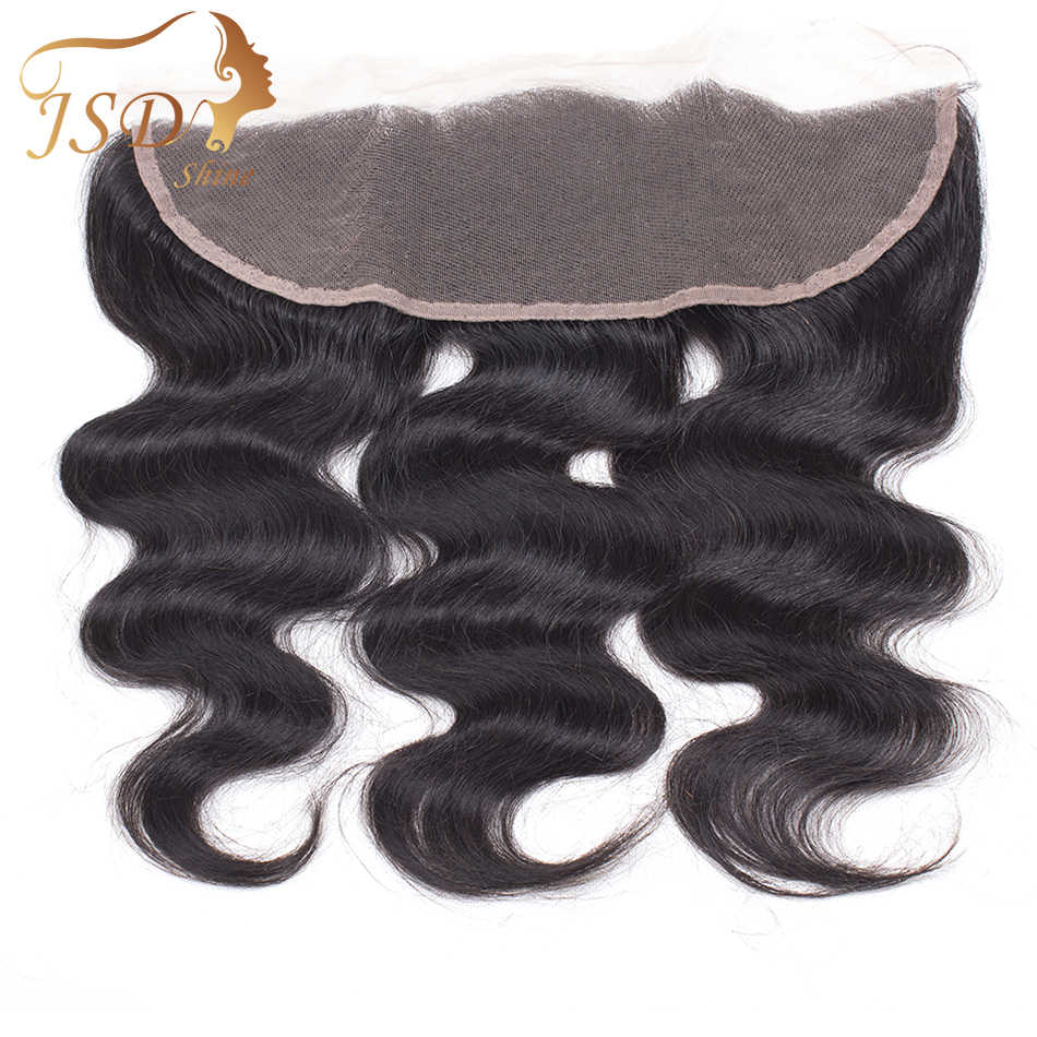 JSDShine Hair Ear to Ear Lace Frontal Closure 13X4 Free Part Pre Plucked Brazilian Body Wave Human Hair Remy Hair Free Shipping
