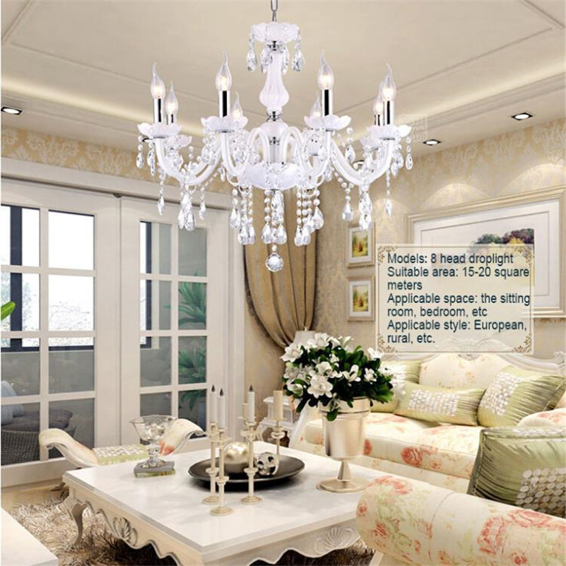 2017 LED Crystal Chandeliers Light Living Room Bedroom Droplight Pendant Ceiling Lamp Hanging