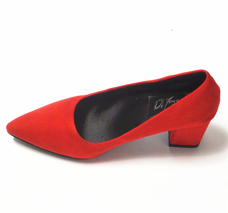 ddae5593c5cf DRFARGO Women s 7.5 cm Block Heel Sexy Pointed Toe Woman Pumps ...