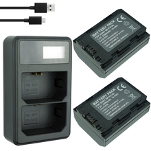 2x 2280mAh NP-FZ100 NPFZ100 NP FZ100 Battery + LCD Dual USB Charger for Sony NP-FZ100, BC-QZ1, a9, a7R III, a7 ILCE-9
