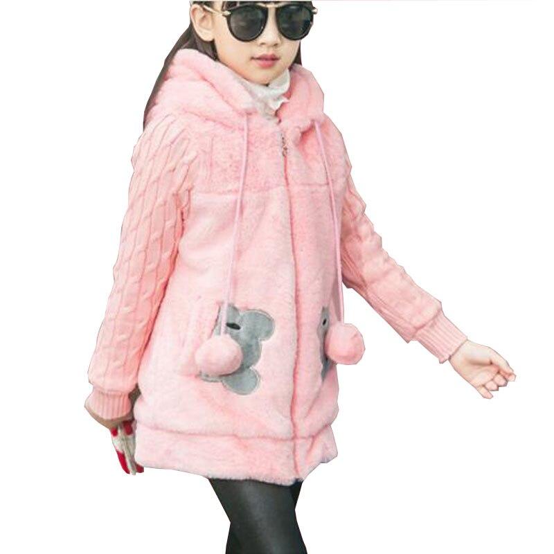 b1afd930c Winter Baby Girls Faux Fur Fleece Coat Party Pageant Warm Jacket ...