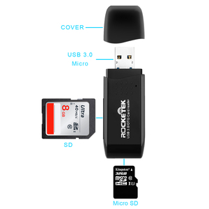 Image 2 - Rocketek usb 3.0 multi 2 in 1 memory otg phone card reader 5Gbps adapter SD/TF micro SD pc computer laptop accessories
