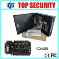 TCP/IP 4 doors access control panel access control board C3-400 door access control system with power supply and protect box
