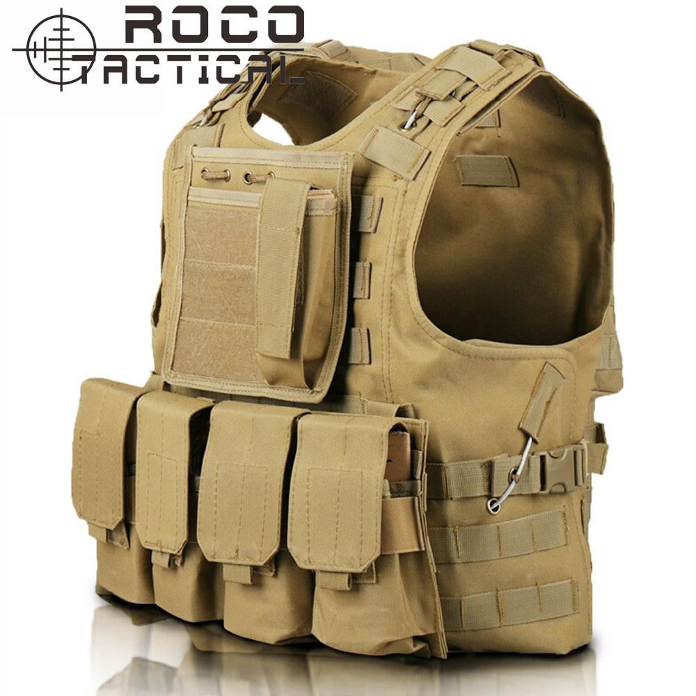 Quick Release Military Modular Molle CIRAS Tactical Vests Assault Vest Airsoft Combat Vests Includes Mag Pouch