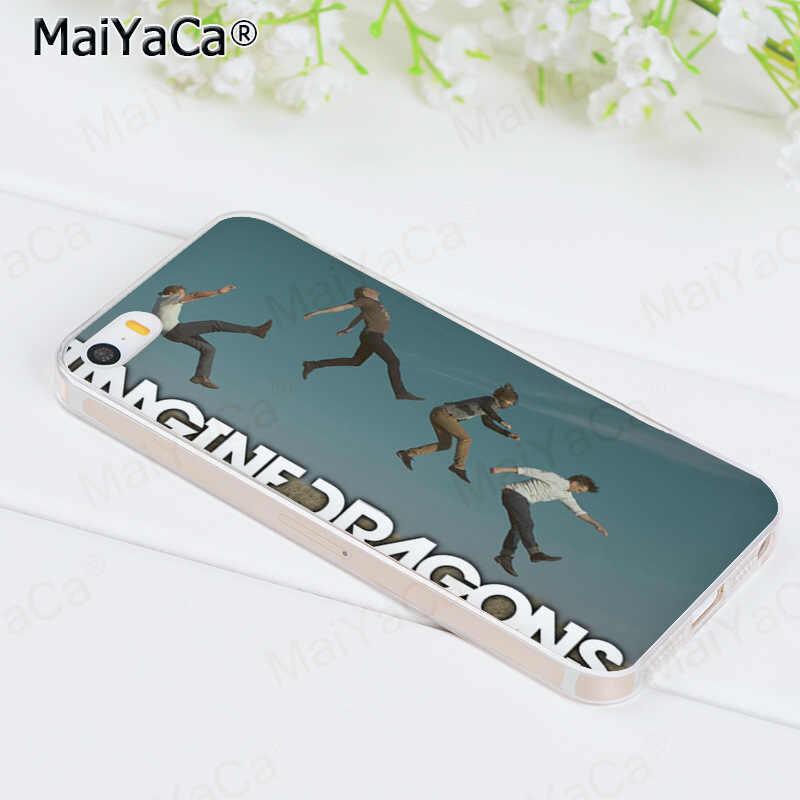 MaiYaCa imaginar dragones música transparente cubierta de teléfono de TPU suave funda para iPhone 8 7 6 6S Plus X 5S SE 11pro caso shell