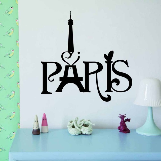 HOT New Home Decoration PARIS Eiffel Tower Carved Living Room Bedroom  Background Wall 3D Sticker Wholesale
