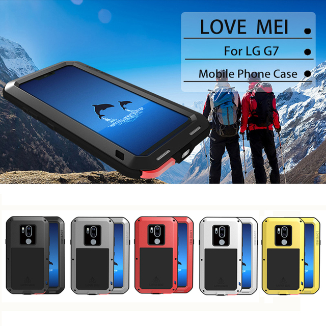 competitive price eca88 7035b US $31.25 |LOVEMEI Powerful Metal Waterproof Case For LG G7 ThinQ Aluminum  ShockProof Full Body Back Cover Defender Mobile Phone Case-in Fitted Cases  ...