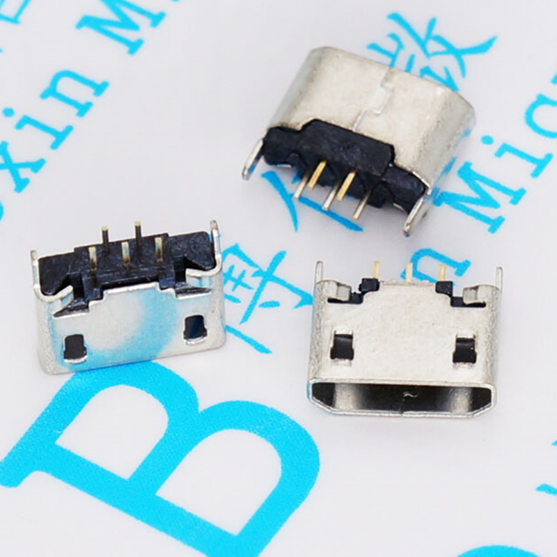 ShineBear Black White DIY Micro USB 4Pin 5Pin Type C Male Connector Type A 4P Male Female Plug and for iPhone Male Plug Cable Length: MA-6
