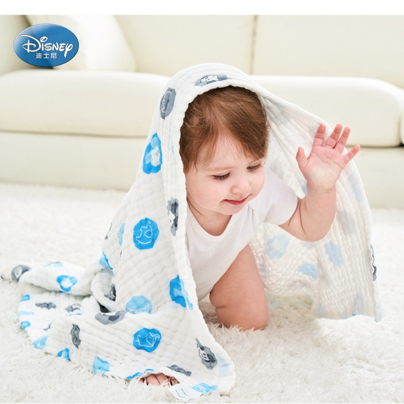 Disney cute cartoon Mickey Minnie baby bath towel 100% cotton yarn soft bath towel110*110cm 110*70cm