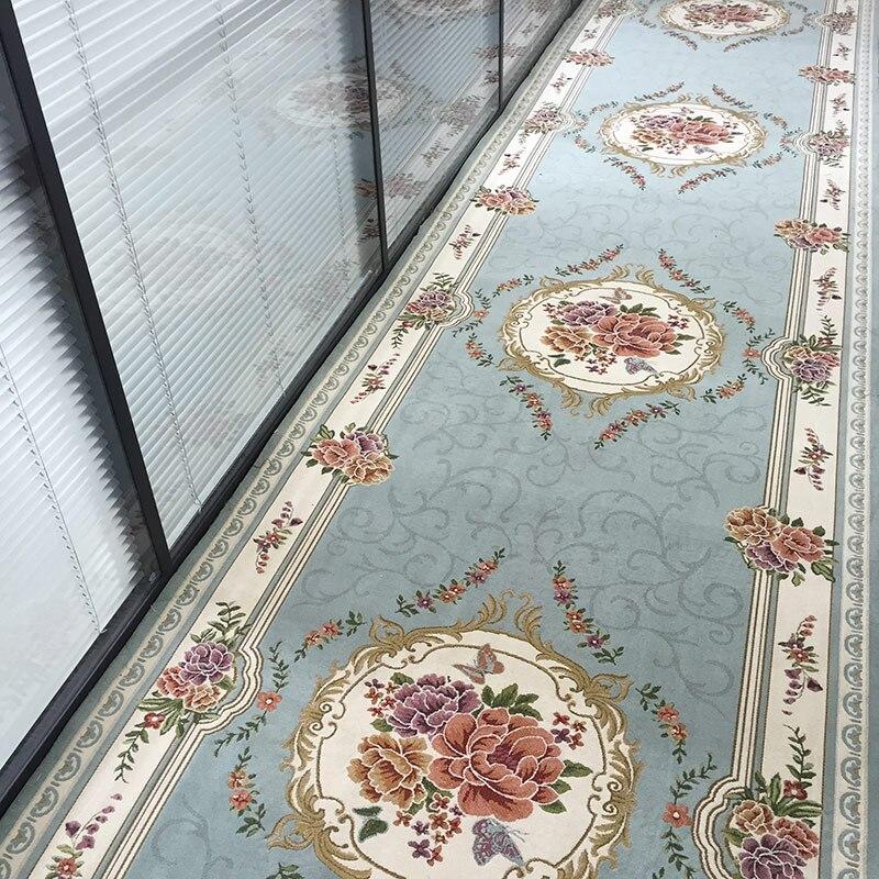 Floral luxe porte tapis Style européen tapis couloir tapis chambre salon thé Table tapis cuisine salle de bains anti-dérapant tapis