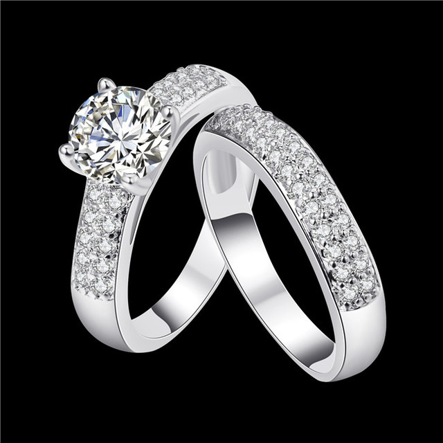 Fashion classic style queen Ring Silver Color & Gold Color AAA cubic zirconia en