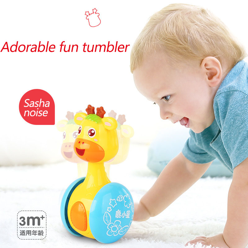 Deer star tumbler explosion rattles new toys baby toys, Christmas gifts toys