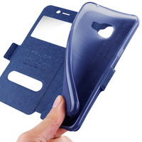 Luxury Flip Cover For Samsung Galaxy Note 2 View Window Case For Galaxy Note II Soft