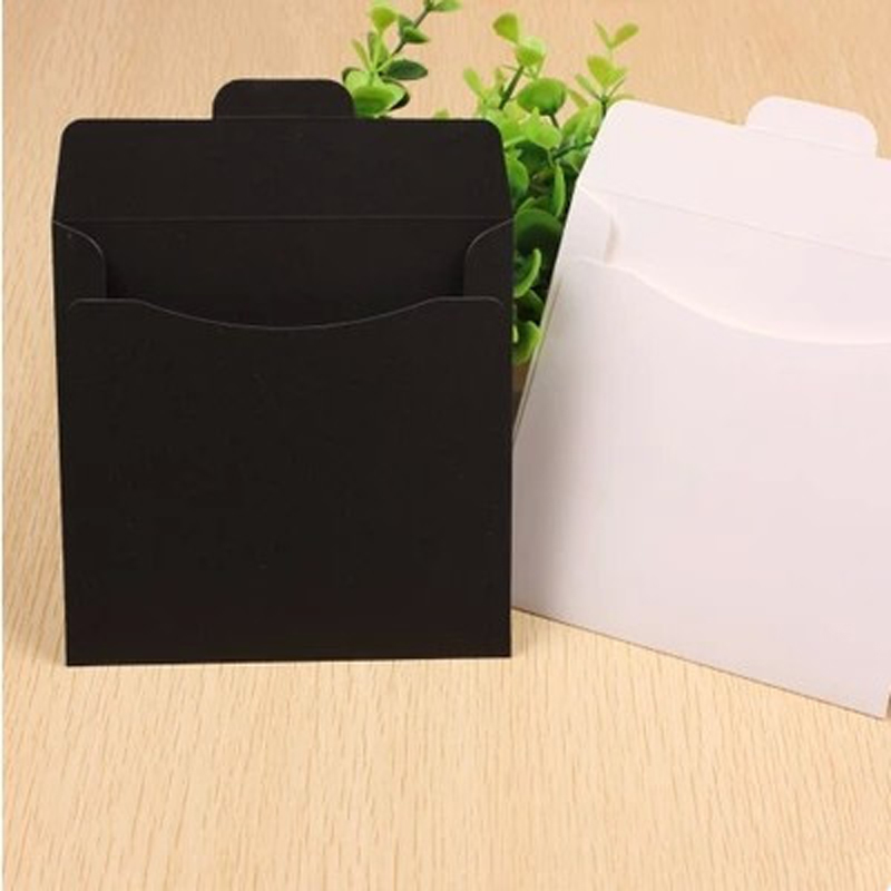 10pcs lot 12 5 12 5 cm Black And White Disc Paper Envelope Bag CD And DVD cover CD sets Envelope Bag in Paper Envelopes from Office School Supplies