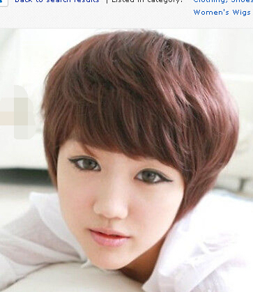 Fashion Women Night Club Style Girl Short Hair Cosplay Party Brown