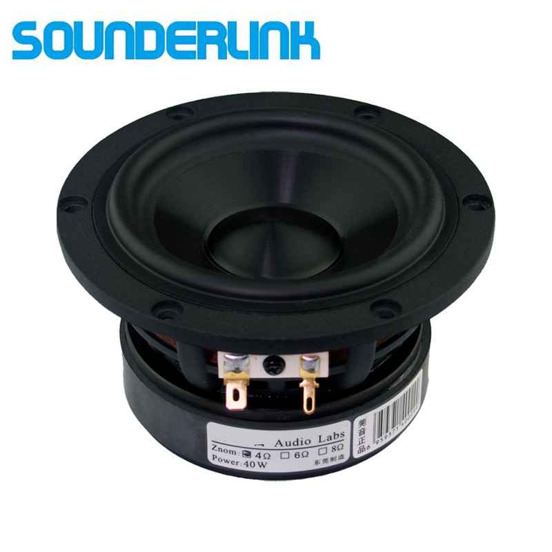 2PCS/LOT Audio Labs woofer Top end 4 inch Cast aluminum frame Bass subwoofer driver transducer speaker midrange Diy monitor 2pcs lot cx20585 11z audio driver