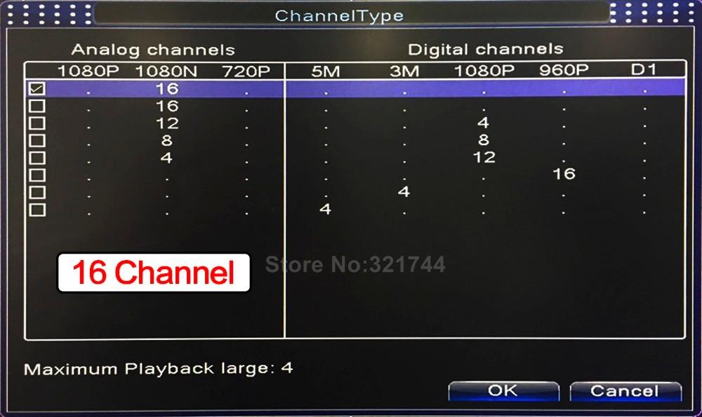 10 16Ch CCTV DVR NVR XVR