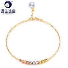 YS Akoya Parel Armband 18 k Solid Gold Armband Fijne Sieraden