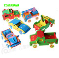 HAPPYXUAN 6 unids/lote Fresco Hecho A Mano 3D EVA Foam Puzzle Toy carro del coche de carreras modelo de vehículo para niños diy craft kits 3-6 años