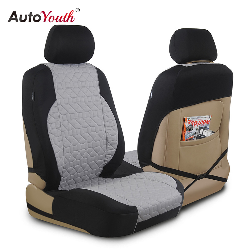AUTOYOUTH Premium Cotton Cloth Car Seat Cover Universal Fit for All Car SUV Truck Interior Accessories Car Seat Protector car seat