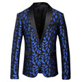 EE.UU. Erope Importación de Alto grado de Franela Traje de Verano Traje De Los Hombres de Colores de Impresión de La Personalidad Dominante de Negocios Blazers Steewear