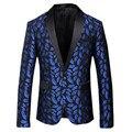 EUA Importação de Erope High-grade Flanela Terno de Negócio Terno Homens Verão Colorido Impressão Domineering Personalidade Blazers Steewear