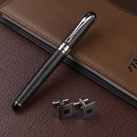 High Quality Roller Ball Pens Metal Silver Clip Luxury Pens Caneta Stationery Office Supplies Business Cufflinks