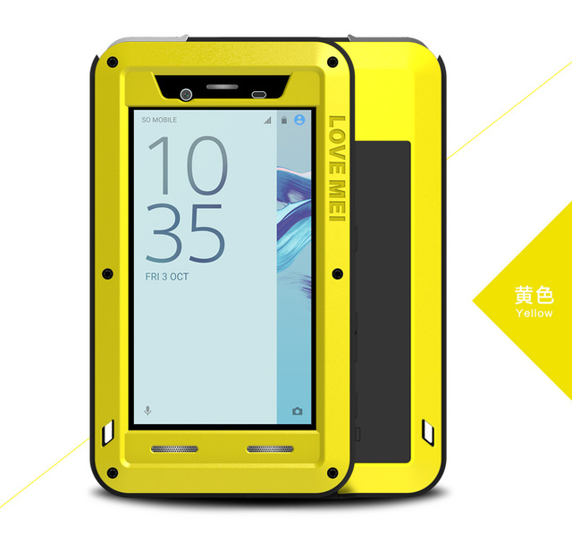 new arrival 3a2f6 d5fa5 US $28.0 20% OFF for Sony Xperia X Compact F5321 Case LOVE MEI Shock Dirt  Proof Water Resistant Metal Armor Cover Phone Case for Sony X Mini capa-in  ...