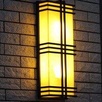 Отель, зал большой вертикальный Настенные светильники светодио дный Сад Освещение для проекта камень тени E27 гладить фасад Кофейни бра