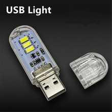 1Pcs New Mini USB LED lamp Book lights 3 LEDs 5730 SMD 1.5w Camping Bulb Nightlight For PC Laptops Notebook Reading Night light