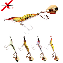 XTS Fishing Lure 35mm/40mm/46mm/56mm Wobblers Artificial Sinking Bait Lead Material Simulation Shrimp Spinner 4002