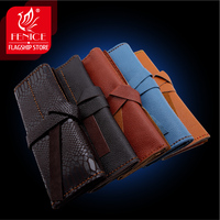 Hairdressing Bags Hair Scissors Clips Case Waist Pack Pouch Holder Hair Styling Baber Salon Cowskin Folding