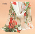 Peacesky 0474 Brand design 2017 fashion women's Gradient flower scarf Beach Big silk scarves ladies stoles soft warm shawls
