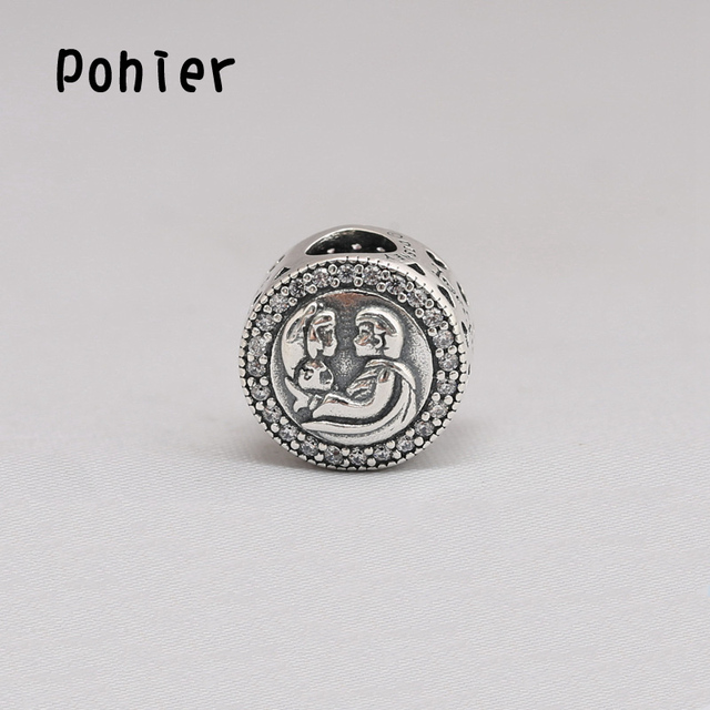 f8da3ee19 29ecf eed8a; get 925 sterling silver loves first kiss clear cz charms  european beads fit pandora charms df4ba