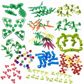 Blokowanie Creator bloki MOC części roślina liść drzewa kwiat DIY klocki klocki zabawki dla dzieci City Creator blokowanie części tanie i dobre opinie hua tang xin yue Unisex 6 lat Mały budynek blok (kompatybilne z Lego) MOC Parts Creator Blocks Creator Made IN China Creator Blocks MOC Parts