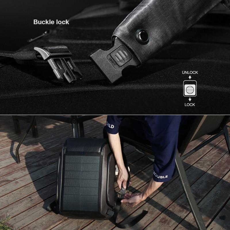Usb Schulter Neue Reise Tech Männer Rucksäcke Black diebstahl Rucksack Backpacks Panel High Solar Lade Effizienz Kingsons Anti Reisetasche Sicherheit 7dxR1ZZqn