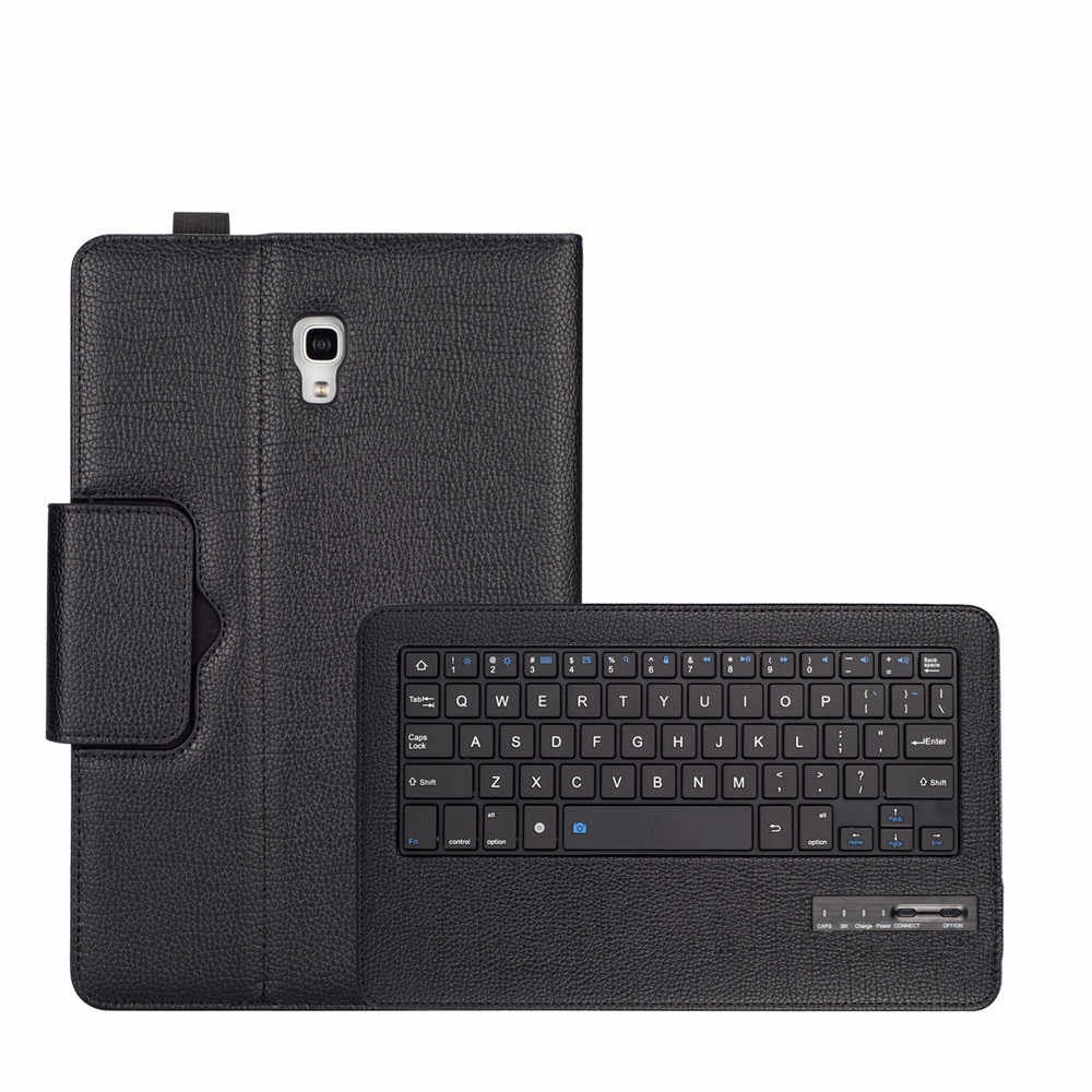 Bluetooth Keyboard +Leather Case Stand for Samsung Galaxy Tab A 10.5 T590 T595 Detachable Keyboard Tablet Cases Plastic keys