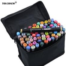 TOUCHNEW أقلام تلوين مجموعة الكحول القائم على فرشاة القلم canetas بطانة رسم علامات الرسم المانجا الفن لوازم فرشاة القلم