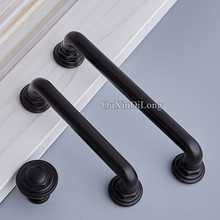 Classic Black 10PCS European Cabinet Pulls Handles Cupboard Wardrobe Drawer Cabinet Kitchen Door Handles&Knob Furniture Hardware стоимость