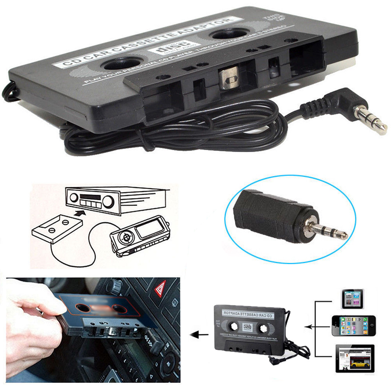 AUX 3.5MM Universal Classic Car Audio Tape Cassette Adapter For iPod Cell Phone MP3 CD MD DVD Player Car Audio image