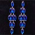 Europe and the United States high - end fashion bridal earrings color zircon exaggerated zircon earrings