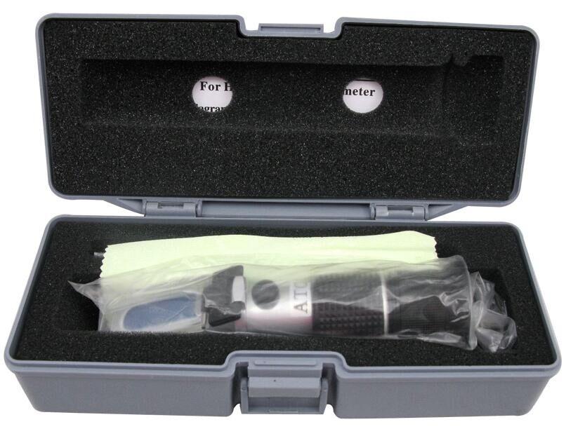 0-40% brix 0-25% alkohol Refraktometer Tester für Alkohol Brix Bier Wein Obst Traube Zucker Zucker ATC mit kleinkasten 20%