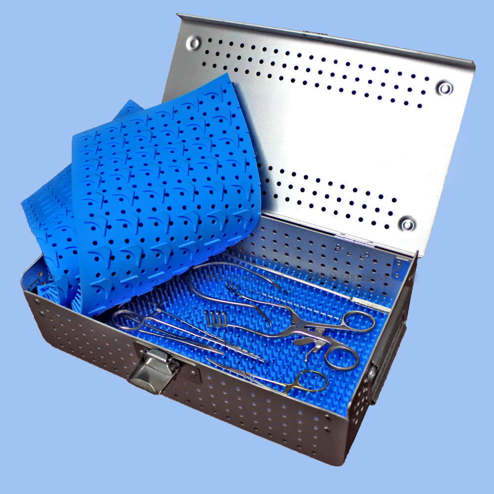 Image 4 - Medical orthopedic dentel Surgical instrument aluminium alloy Storage Sterilizing box HTHP materials case with HTHP silicone pad-in Braces & Supports from Beauty & Health