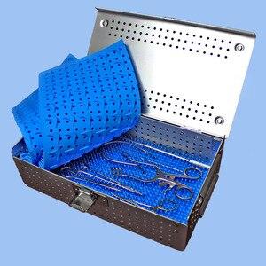 Image 4 - רפואי אורתופדי dentel כירורגית מכשיר אלומיניום סגסוגת אחסון חיטוי תיבת HTHP חומרים מקרה עם HTHP סיליקון pad