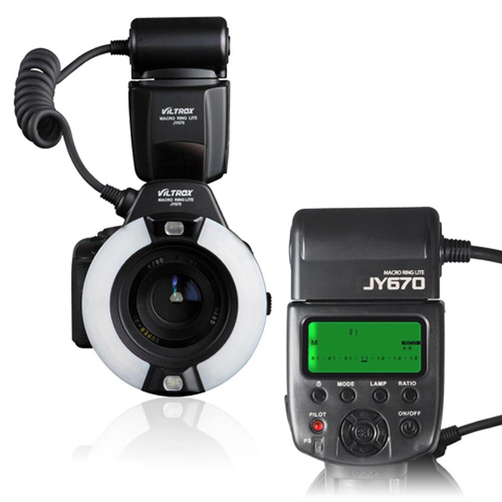 Viltrox JY-670 professionnel Macro anneau Flash lumière LCD écran Speedlite pour Canon Nikon Olympus Pentax appareil photo DSLR